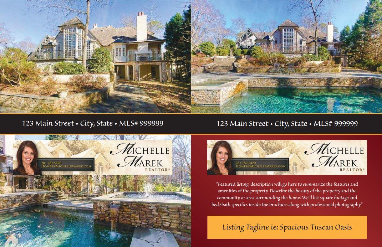 Realestatelistingbrochuretemplate Kapeesh Marketing LLC - Real estate listing brochure template