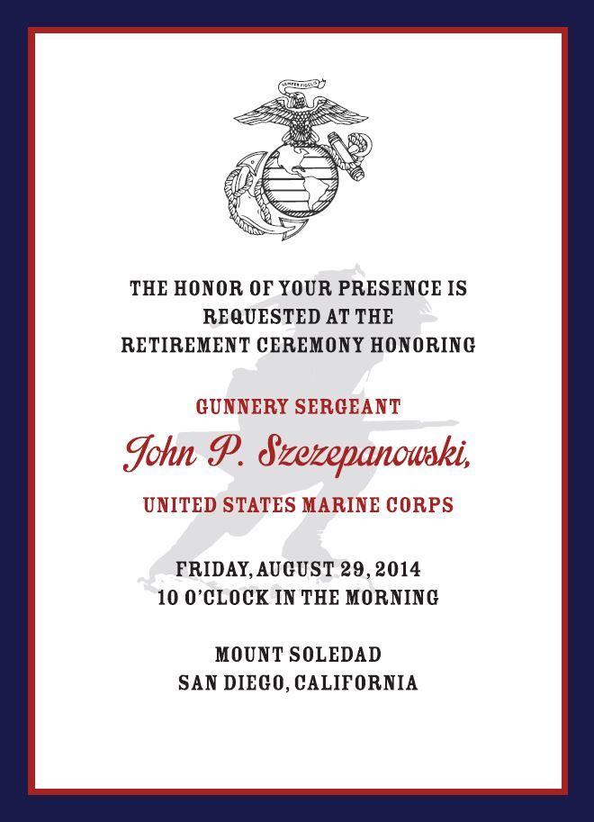 USMC Retirement Invitation Kapeesh Marketing LLC