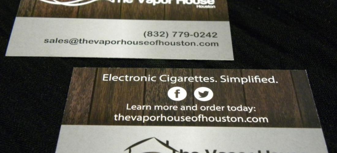 Vapor House Business Cards - Kapeesh Marketing, LLC